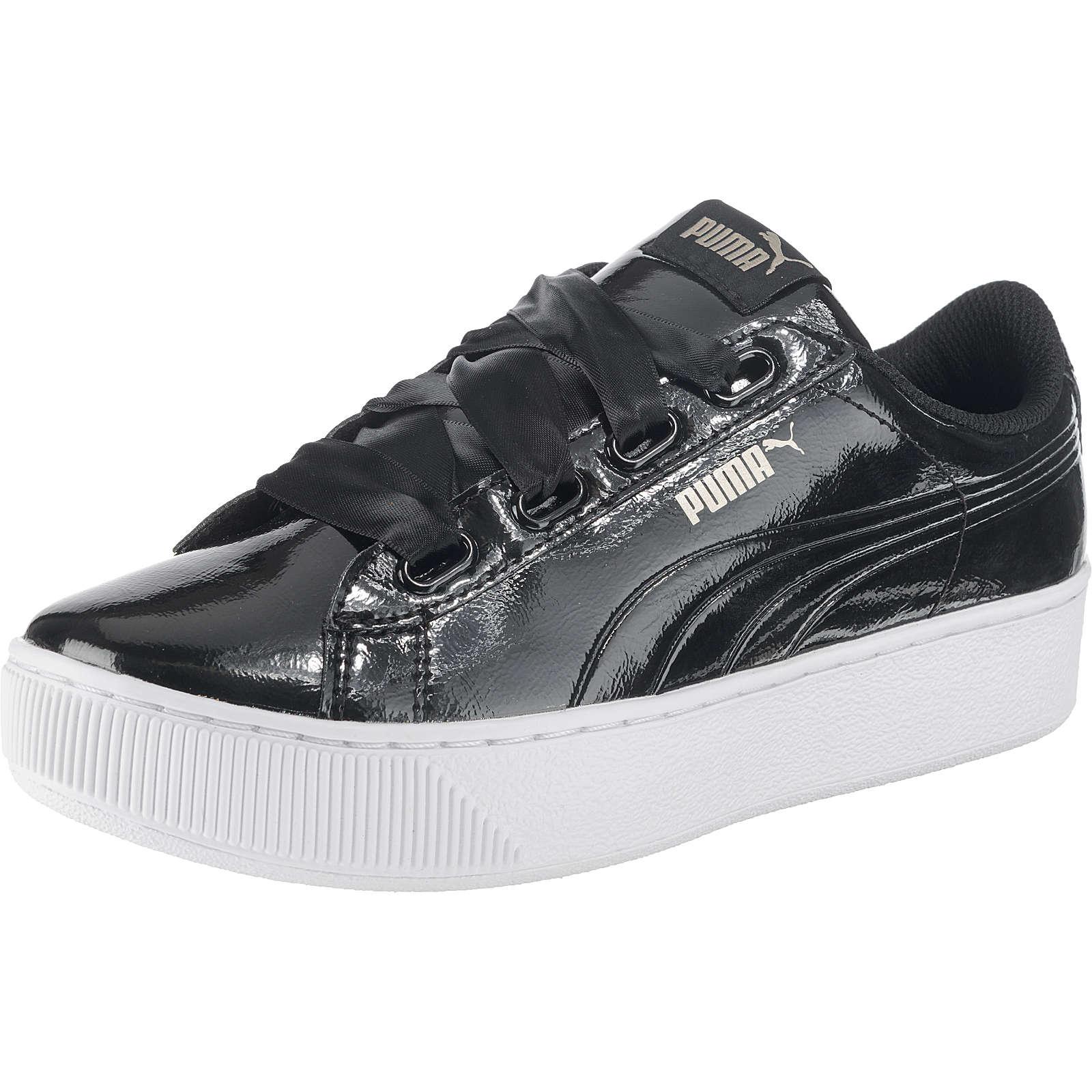 PUMA Vikky Platform Ribbon P Sneakers Low schwarz Damen Gr. 41