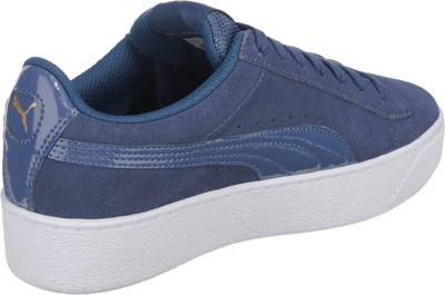 PUMA Vikky Platform Sneakers Low blau LogoApplikation in