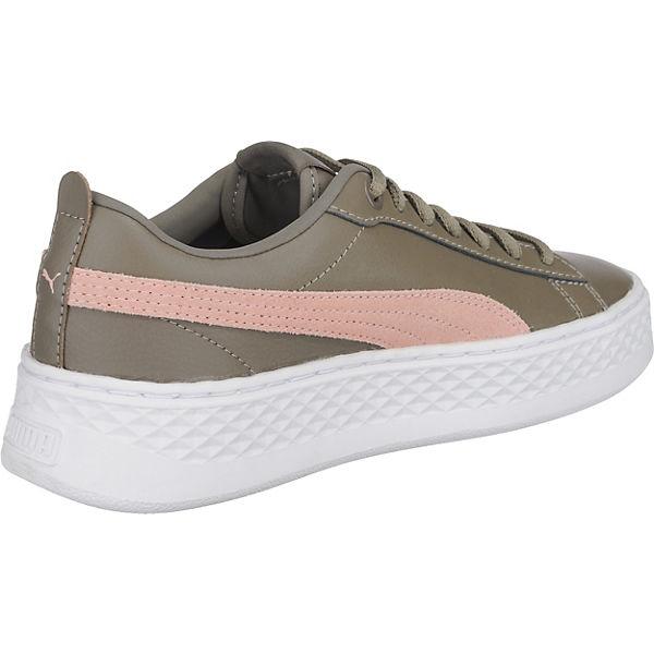 Puma Sneakers Smash L Low PUMA khaki Platform OdgBqwvw