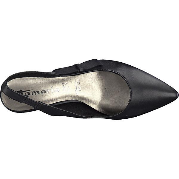 Tamaris, Sling-Pumps, schwarz schwarz schwarz  Gute Qualität beliebte Schuhe bf13a6