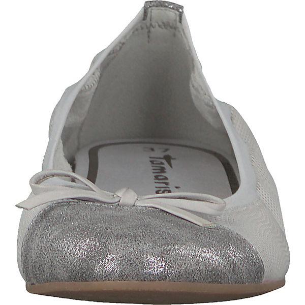 Tamaris Klassische Ballerinas grau-kombi beliebte  Gute Qualität beliebte grau-kombi Schuhe 866709