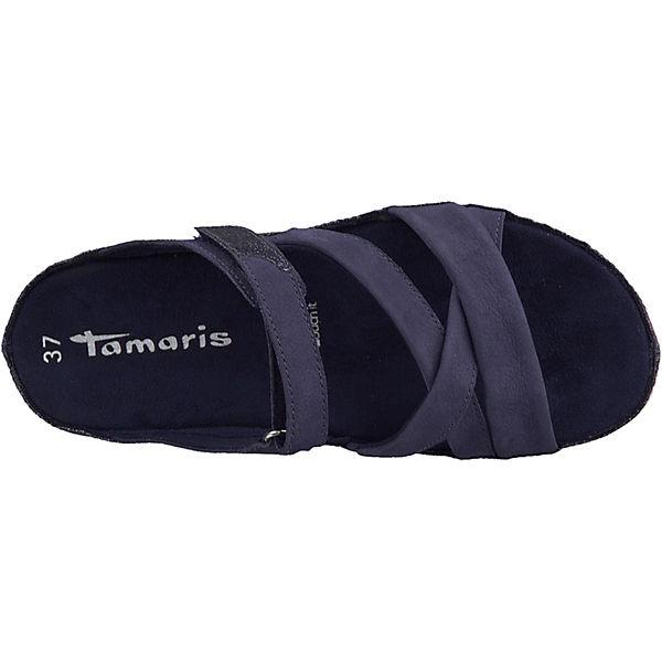 Tamaris, Pantoletten, Gute blau Gute Pantoletten, Qualität beliebte Schuhe a4cd4b