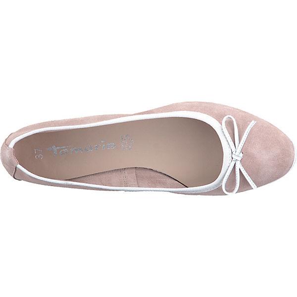 Tamaris,  Klassische Ballerinas, rosa/weiß  Tamaris, Gute Qualität beliebte Schuhe 5a290f