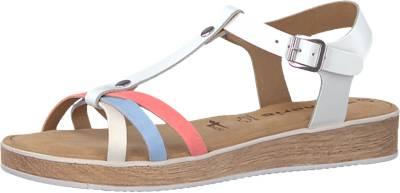 Tamaris Klassische Sandalen, weiß, weiß