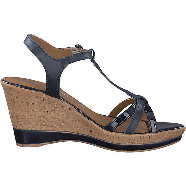Tamaris, KeilSandaleetten, blau  Gute Gute Gute Qualität beliebte Schuhe 24ad1f
