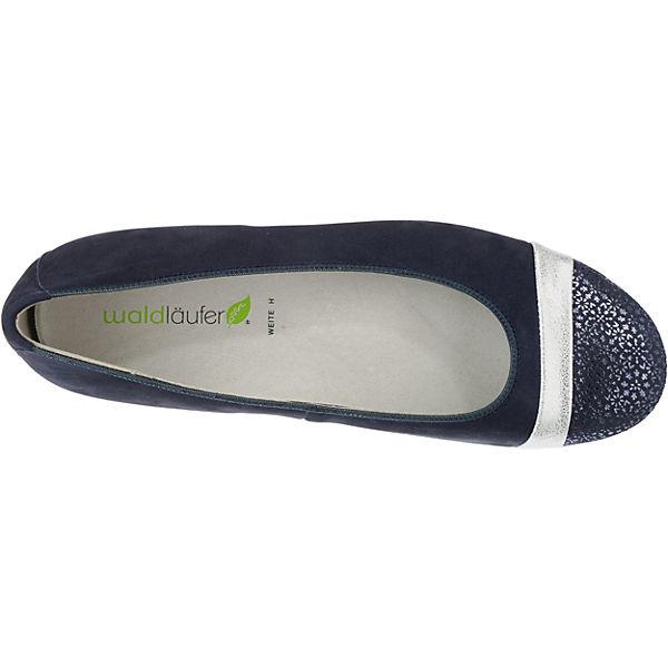 WALDLÄUFER, Hamiki Klassische Ballerinas, blau-kombi Schuhe  Gute Qualität beliebte Schuhe blau-kombi f053a6