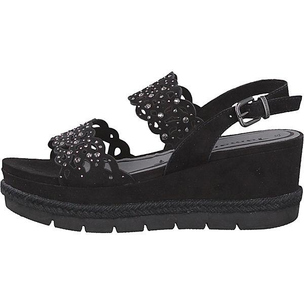 Tamaris, Plateau-Sandaletten, schwarz  beliebte Gute Qualität beliebte  Schuhe 913f9b