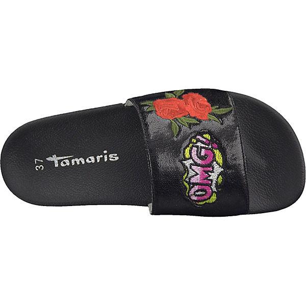 Tamaris Tamaris Pantoletten schwarz Pantoletten schwarz FSgEwU