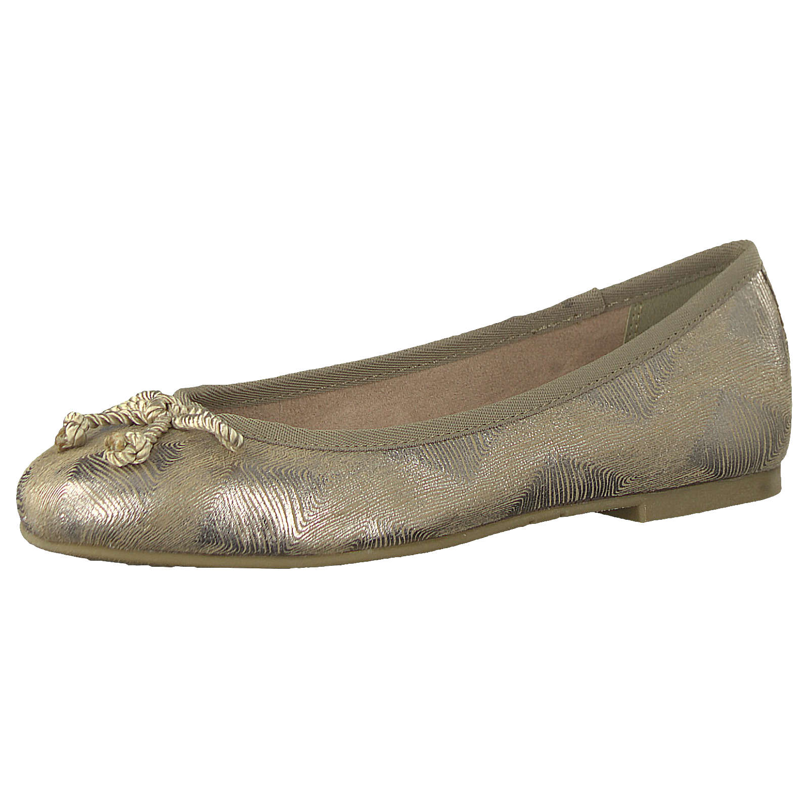 Tamaris Klassische Ballerinas gold-kombi Damen Gr. 39