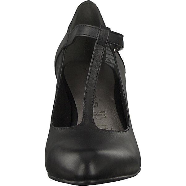 Tamaris, T-Steg-Pumps, schwarz  beliebte Gute Qualität beliebte  Schuhe 351113