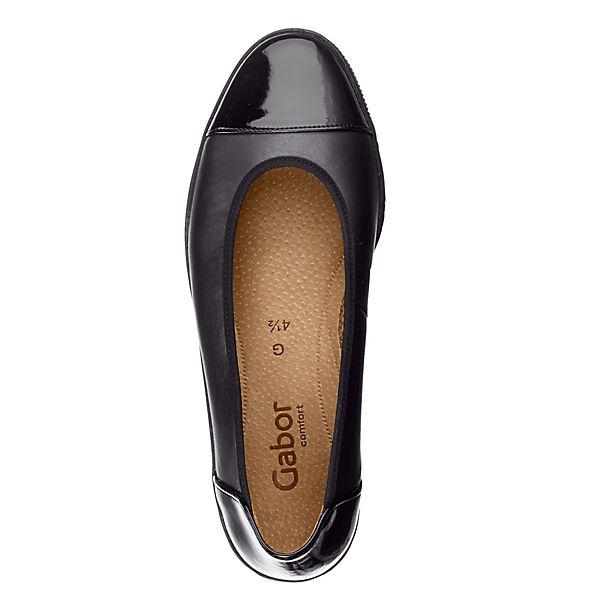Gabor, Klassische Ballerinas, schwarz    Gute Qualität beliebte Schuhe b9f729