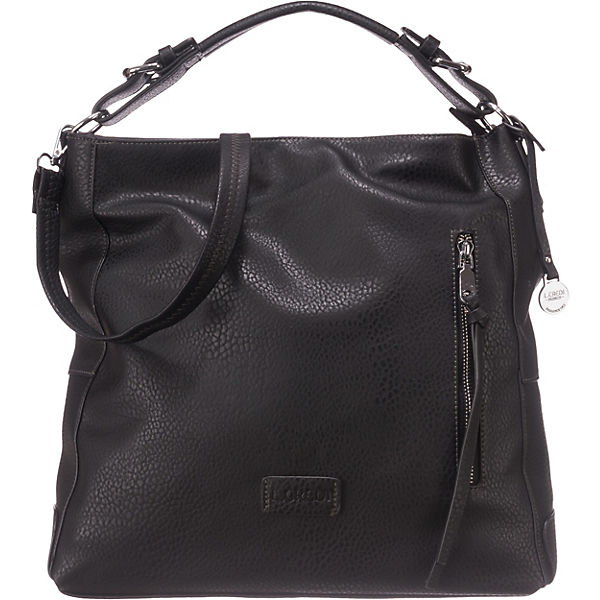 L. Credi Venezia Handtasche schwarz