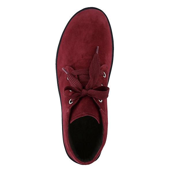 Naturläufer, Schnürstiefeletten, bordeaux  Gute Qualität beliebte Schuhe