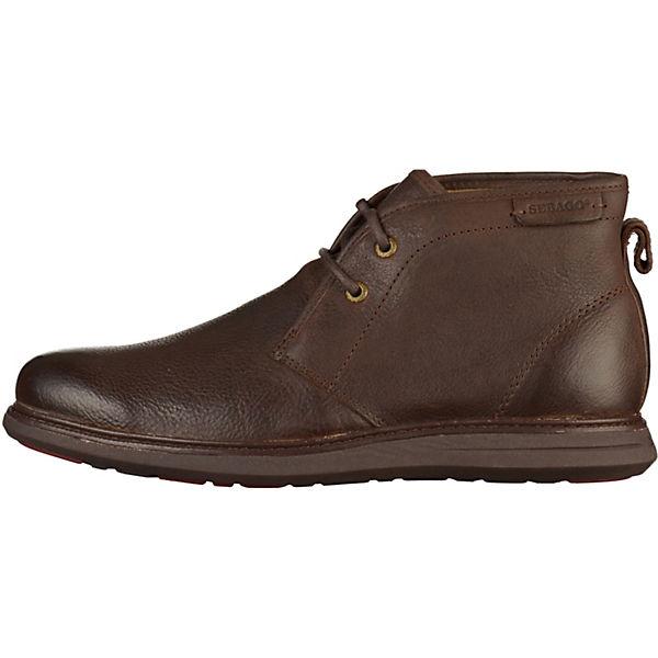 SEBAGO, Schnürstiefeletten, dunkelbraun  Gute Qualität beliebte Schuhe