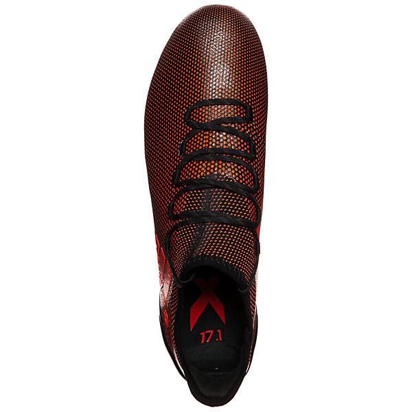 adidas Performance X 17.1 FG Fußballschuhe schwarz/rot
