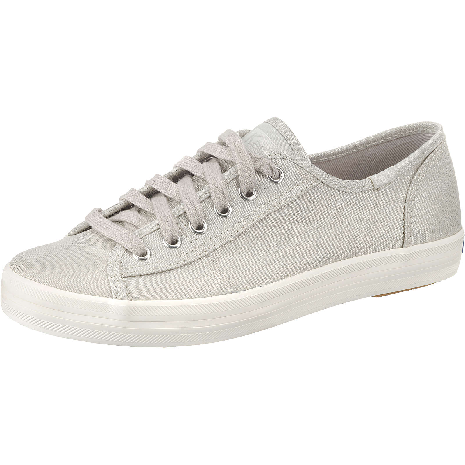 Keds Kickstart Metallic Linen Silver Sneakers Low silber Damen Gr. 38