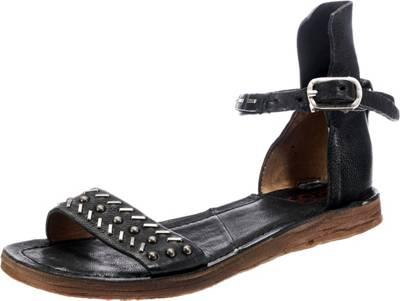 A.S.98 Klassische Sandalen, schwarz, schwarz