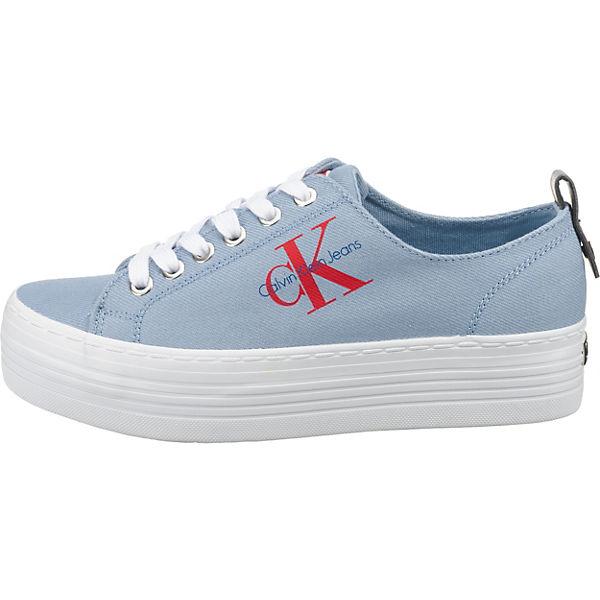 CALVIN KLEIN JEANS, ZOLAH DENIM  Sneakers Low, hellblau   DENIM 5ca60d