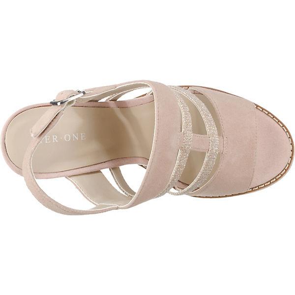 Pier  One, Keilsandaletten, rosa  Pier Gute Qualität beliebte Schuhe 8ed423