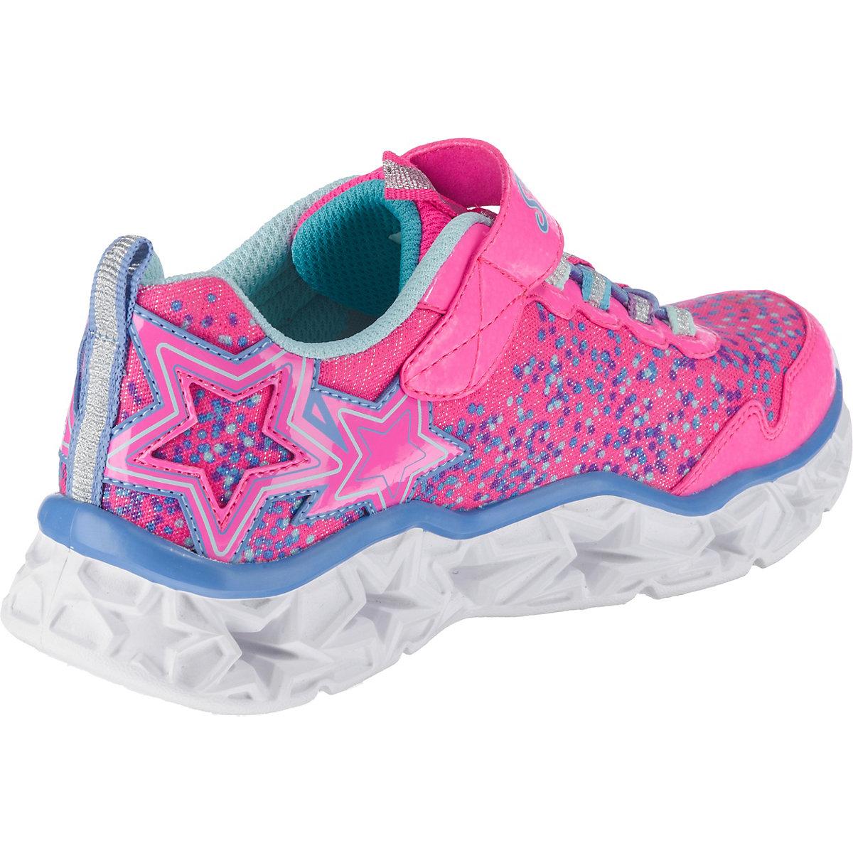 SKECHERS, Kinder Sneakers Blinkies für Mädchen, pink ...
