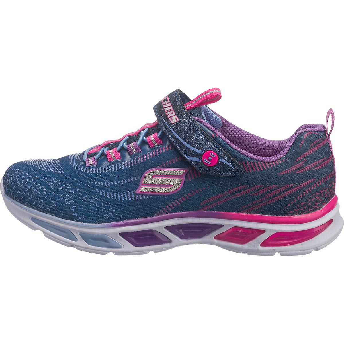 SKECHERS, Kinder Sneakers Blinkies für Mädchen, blau ...