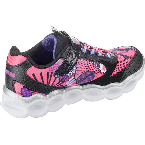 SKECHERS Kinder Sneakers Blinkies für Mädchen schwarz