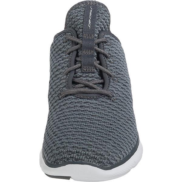 SKECHERS, Flex Appeal 2.0 grau-kombi Bold Move Sneakers Low, grau-kombi 2.0   70131d