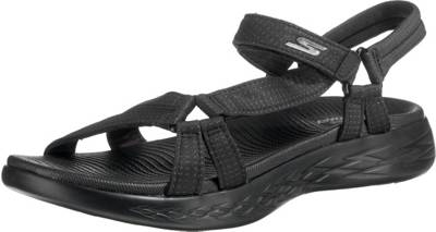 SKECHERS, ON-THE-GO 600 BRILLIANCY Komfort-Sandalen, schwarz