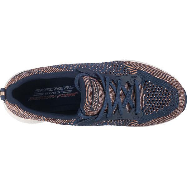 Spark Bobs blau SKECHERS Low Squad Sneakers Hot OBtcwq6S
