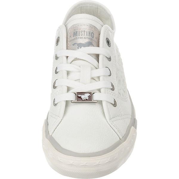 Low Sneakers Sneakers Sneakers MUSTANG weiß Low weiß MUSTANG MUSTANG Rwfqxf1OF
