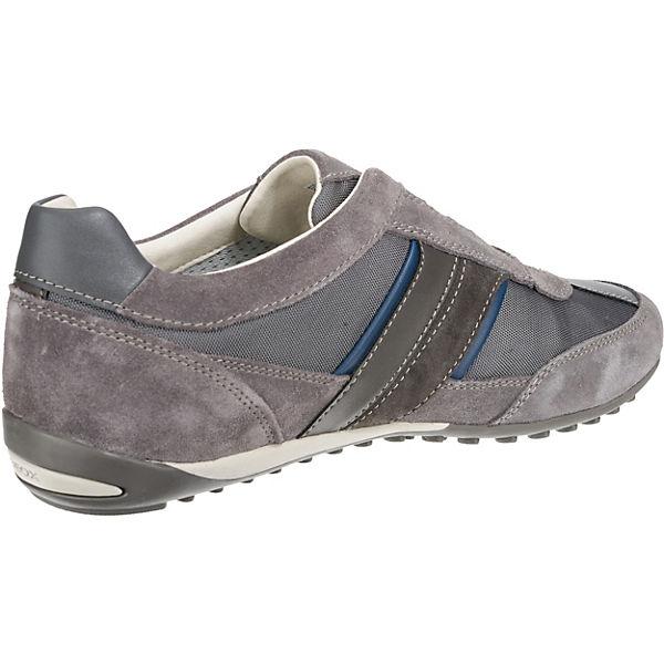 GEOX, Wells Qualität Slipper, dunkelgrau  Gute Qualität Wells beliebte Schuhe 81afbc