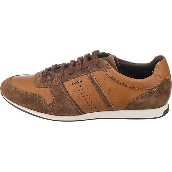 Geox Clemet Geox Low Cognac Sneakers Clemet YBqWEZ5w
