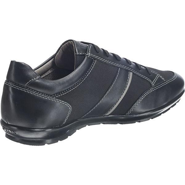 GEOX Symbol Schnürschuhe schwarz
