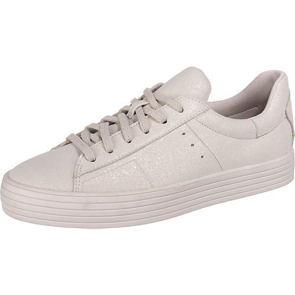 LU Sita Sneakers grau weiß Low Glitter ESPRIT qOFECwq