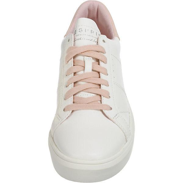 ESPRIT Sneakers up Lace beige Elda Low FwFS1HOqZc