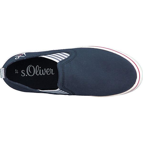 s.Oliver Sportliche Slipper blau/weiß