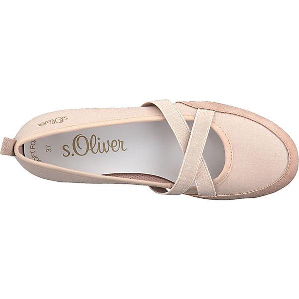 S.Oliver, Sportliche Ballerinas, rosa  Qualität Gute Qualität  beliebte Schuhe 5ca10c