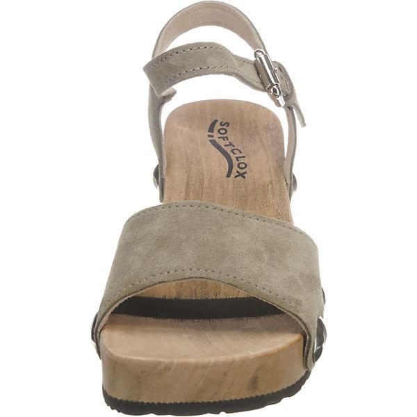 Sandaletten grün SOFTCLOX Plateau PENNY Kaschmir CPnq4p