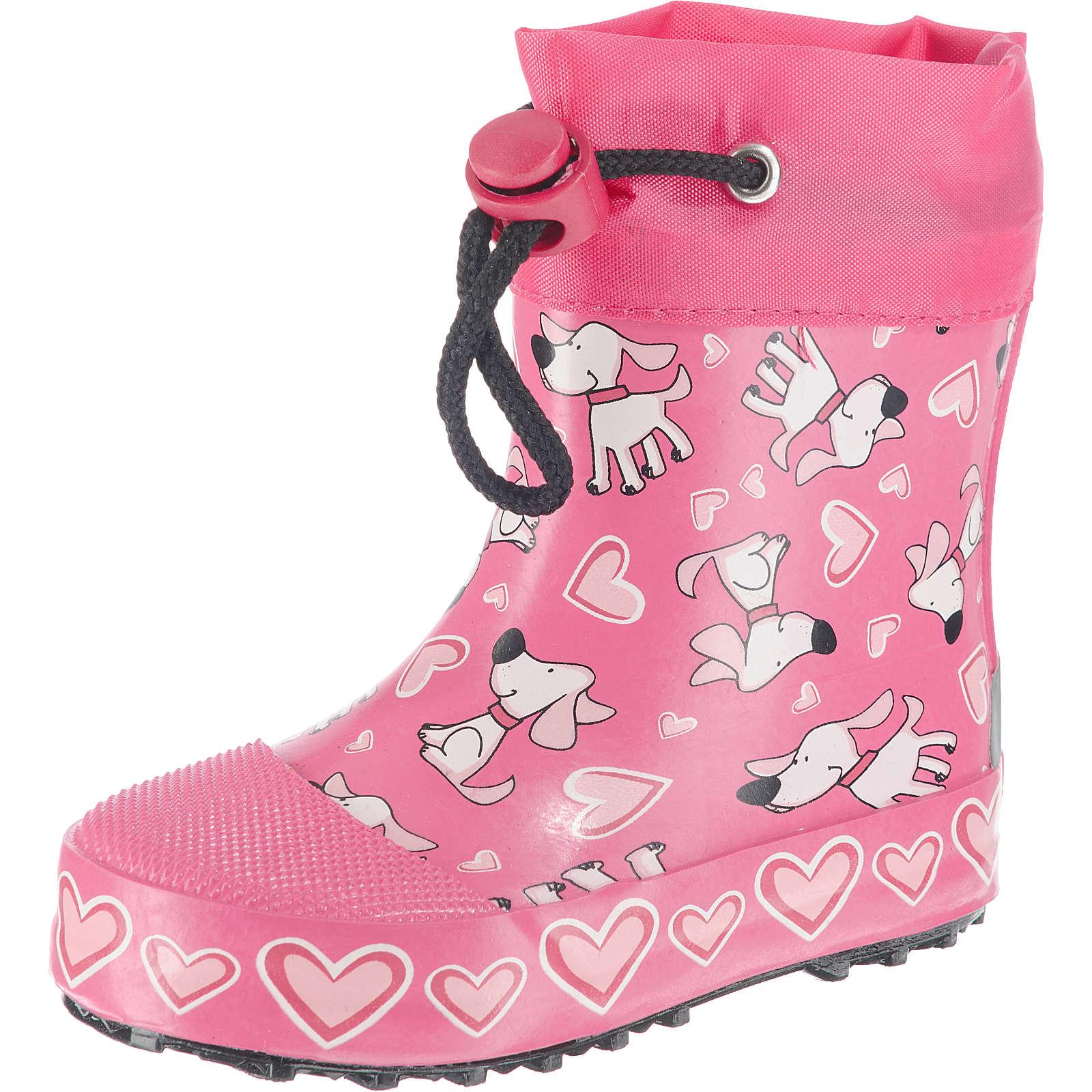 Beck Gummistiefel Hunde für Mädchen pink Mädchen Gr. 18
