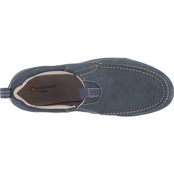 Clarks Orson Row Sportliche Slipper dunkelblau