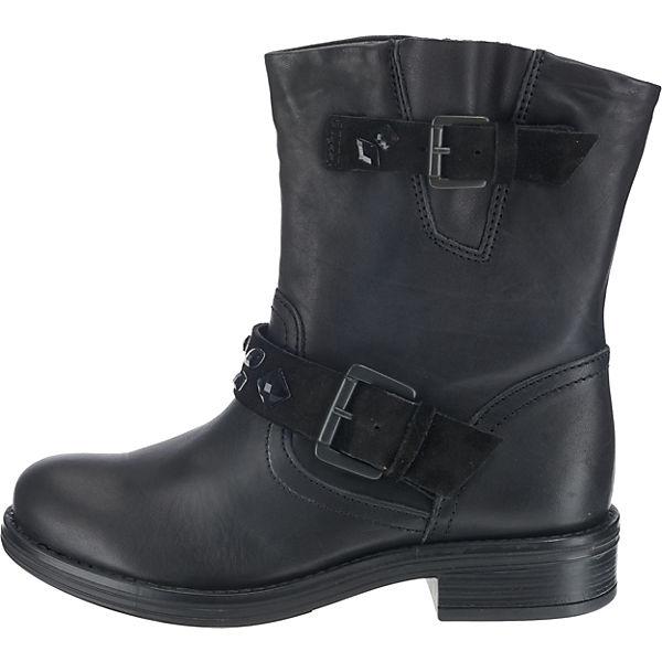 BULLBOXER, Biker Qualität Boots, schwarz  Gute Qualität Biker beliebte Schuhe 7d139e