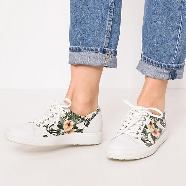 ecco, Soft 1 White Droid Sneakers Low, weiß Schuhe  Gute Qualität beliebte Schuhe weiß 5c6f47