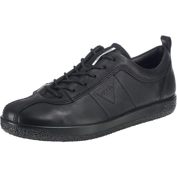 ecco Soft 1 Ladies Black Droid Sneakers Low schwarz