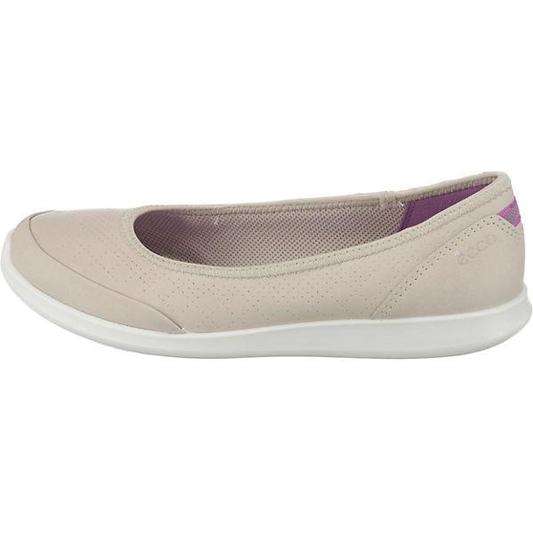 ecco Sense Gute Oyester Racer Yak Klassische Ballerinas beige  Gute Sense Qualität beliebte Schuhe 87eec3
