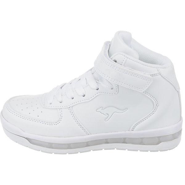 KangaROOS Kinder Sneakers High K-LID Blinkies mit LED-Sohle weiß
