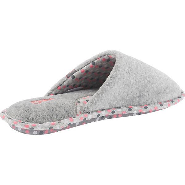 DIM D Bader Pantoffeln grau