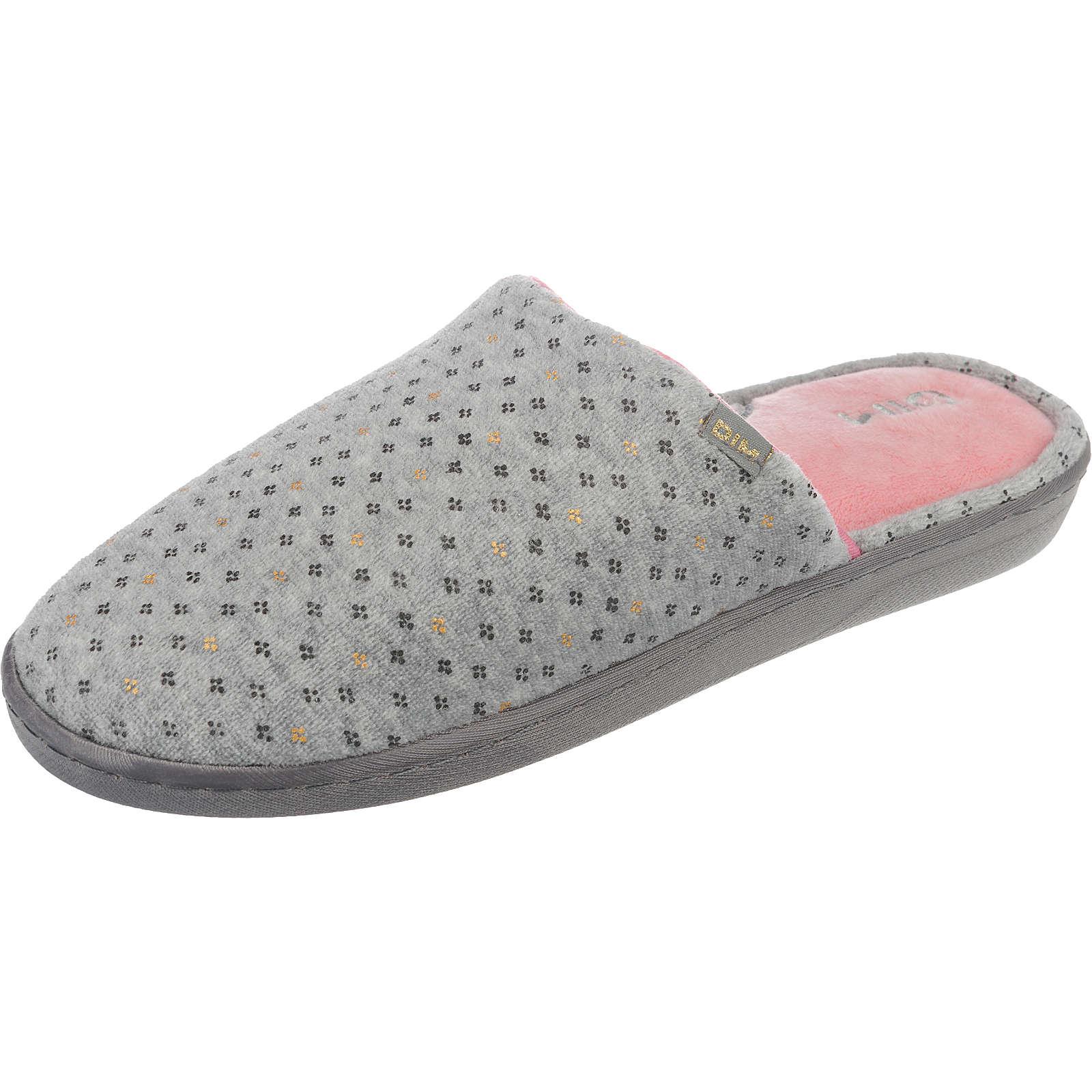 DIM Barbel Pantoffeln grau Damen Gr. 38