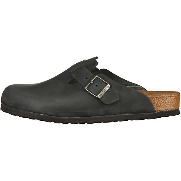 BIRKENSTOCK, Gute Komfort-Pantoletten Boston, schwarz  Gute BIRKENSTOCK, Qualität beliebte Schuhe cf1356