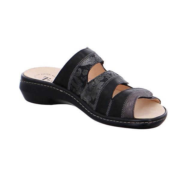 Think!, Pantoletten, beliebte schwarz  Gute Qualität beliebte Pantoletten, Schuhe 6fec14