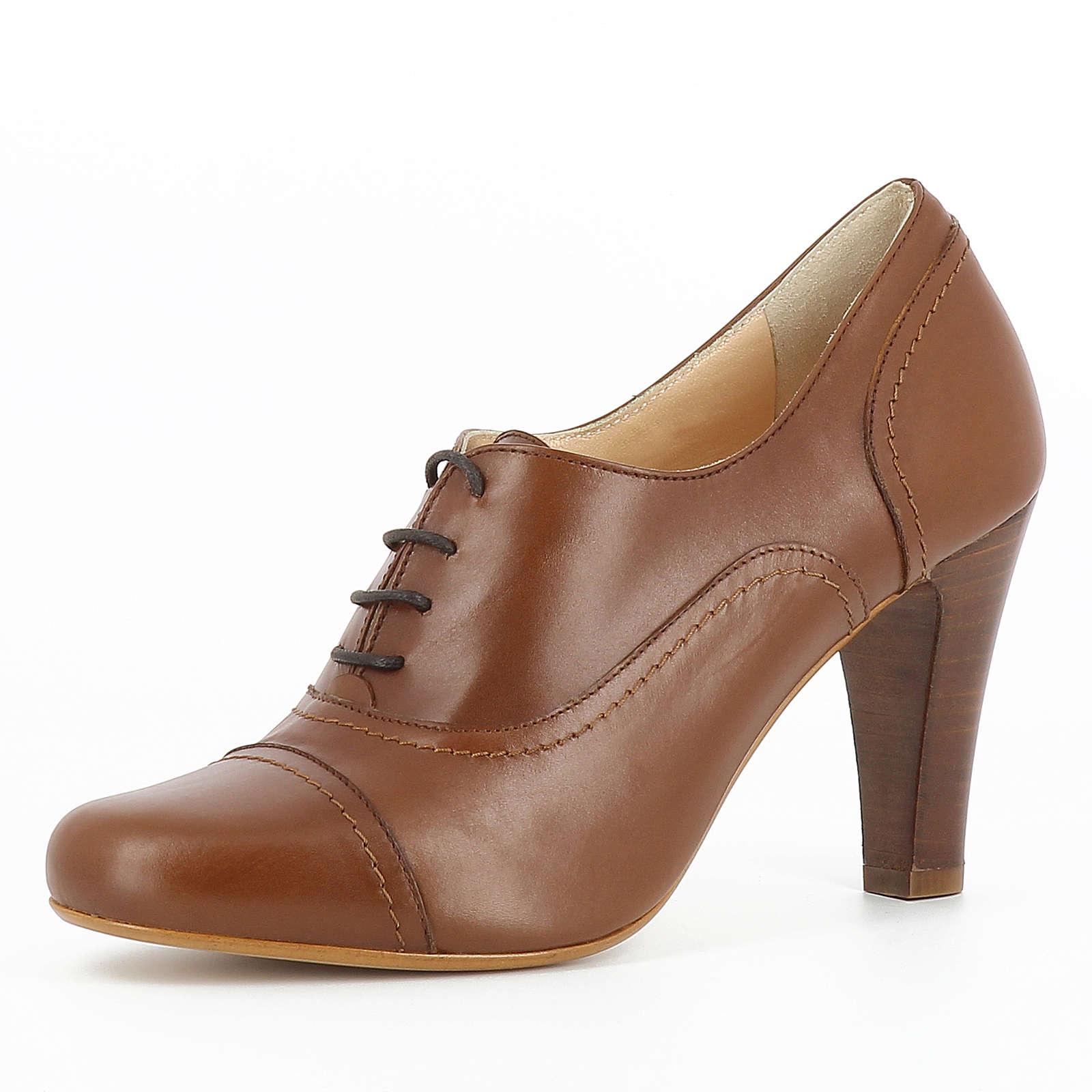 Evita Shoes MARIA Schnürpumps cognac Damen Gr. 34